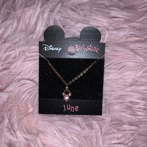 Mickey Mouse birthstone necklace
